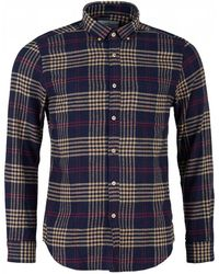 Portuguese Flannel - Tomar Checked Button Down Flannel Shirt - Lyst