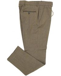 Gibson London - Dogstooth Tweed Trouser - Lyst