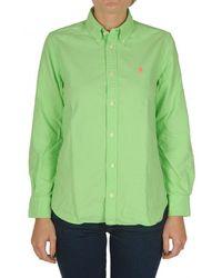 Polo Ralph Lauren - Washed Oxford Cotton Logo Shirt - Lyst