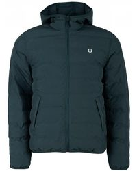 Fred Perry - Quilted Hooded Brentham Jacket - Lyst