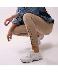 Public Desire - Cheetah Chunky Trainers In White - Lyst