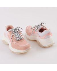 Public Desire - Amfo Chunky Trainers In Pink - Lyst