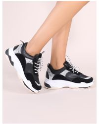 Public Desire - Cirque Chunky Trainers In Black - Lyst