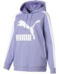 PUMA - Classics Women's T7 Logo Hoodie - Lyst