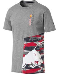 a61d34ae PUMA Men's Graphic Long-sleeve T-shirt in White for Men - Lyst
