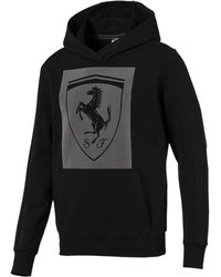 PUMA - Ferrari Big Shield Hoodie - Lyst