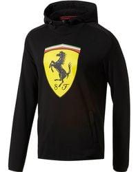 PUMA - Scuderia Ferrari Big Shield Hoodie - Lyst
