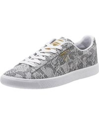 huge selection of 364d5 4e13f PUMA - Clyde Reptile Womens Sneakers - Lyst