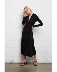Rachel Pally - Long Sleeve Mid-length Caftan - Black - Lyst