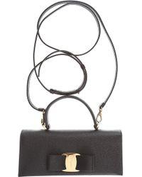 648f4c746e Lyst - Ferragamo Batik Leather Shoulder Bag - Blue in Black