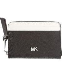 18fd1626b4385 Lyst - MICHAEL Michael Kors Double Zip Metallic Leather Wristlet ...