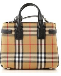 1ea869b8d75b Burberry Canvas Check Medium Ashby Hobo Cadmium Red in Red - Lyst