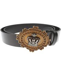 Lyst - Ceinture en cuir imprimé de couronnes Dolce   Gabbana pour ... 31d123d7b63