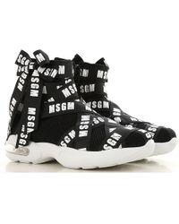 MSGM - Sneakers in mesh con nastri logati - Lyst