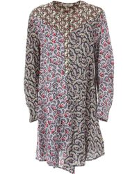 18cd57f0248 Lyst - Isabel Marant Lavern One-shoulder Ruffled Printed Cotton And ...