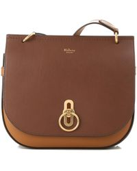 d7b6f248fd2a Lyst - Mulberry Brown Suede Tassel Bag in Brown