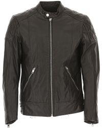 DIESEL - L-marton Leather Biker Jacket - Lyst