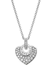 BVLGARI - - Cuore 18kt White-gold And Pave Diamond Necklace - Lyst