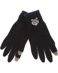 KENZO - Black Tiger Crest Gloves - Lyst
