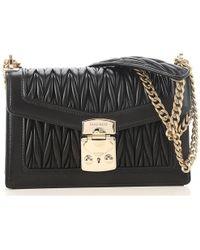 b2b1b5d62228 Lyst - Miu Miu Double Duffle Shoulder Bag in Black - Save 33%