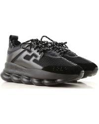 Versace Zapatillas Deportivas de Hombre - Negro