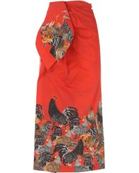 Stella Jean - Kleid für Damen Günstig im Sale - Lyst