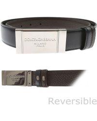 Lyst - Ceinture à boucle logo Dolce   Gabbana pour homme en coloris Noir e6a7bfdb313