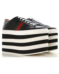 Gucci - Leather Platform Trainers - Lyst