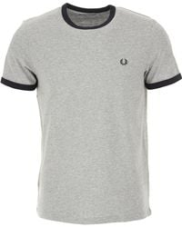 0eea62eaf7b2 Fred Perry - T-shirt For Men - Lyst. Fred Perry - Ringer Crew Neck ...
