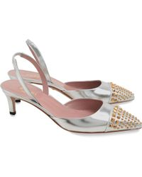 Gucci Pumps & High Heels For Women On Sale In Outlet - Metallic