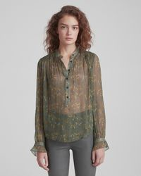 3065f40711eafd Lyst - Rag   Bone Susan Blouse in Blue