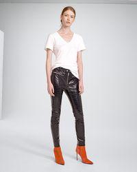 Rag & Bone - Ryder Crinkle Leather Pant - Lyst