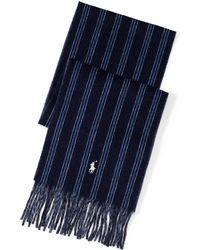 Polo Ralph Lauren - Regimental-stripe Wool Scarf - Lyst