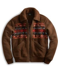 RRL - Print Fleece Jacket - Lyst