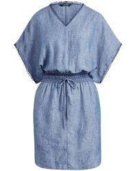 Lauren by Ralph Lauren - Novelty-trim Linen Dress - Lyst
