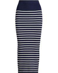 Ralph Lauren - Striped Knit Skirt - Lyst