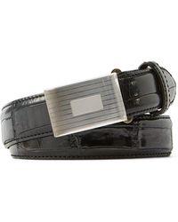 Ralph Lauren | Alligator Engine-buckle Belt | Lyst