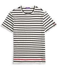 Ralph Lauren Purple Label - Striped Cotton Lisle T-shirt - Lyst