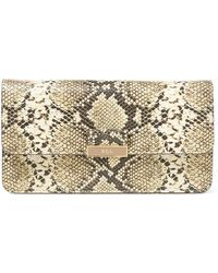 Pink Pony - Farrah Snake-embossed Clutch - Lyst