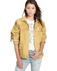 870291660c9 Denim   Supply Ralph Lauren - Fringed Leather Jacket - Lyst