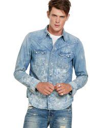 e45f4d6d8c Denim   Supply Ralph Lauren - D s Schaefer Western Shirt - Lyst