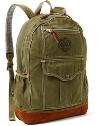 RRL - Canvas-suede Bowers Backpack - Lyst