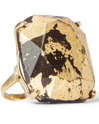 Ralph Lauren - Gold-foiled Teakwood Ring - Lyst
