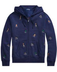 Polo Ralph Lauren - Embroidered Fleece Hoodie - Lyst