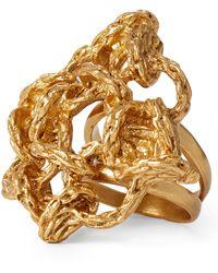 Ralph Lauren - Interwoven Brass Ring - Lyst