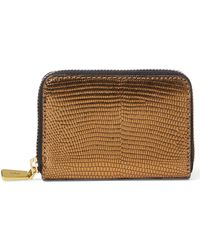 Polo Ralph Lauren - Lizard-embossed Leather Wallet - Lyst