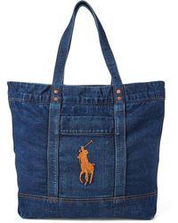 Polo Ralph Lauren - Denim Big Pony Tote Bag - Lyst