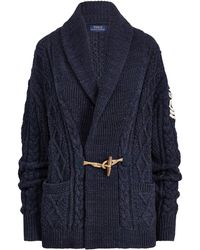 Polo Ralph Lauren - Embroidered Shawl Cardigan - Lyst