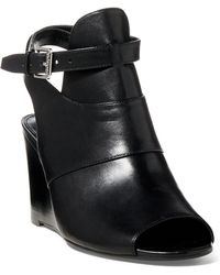 Ralph Lauren | Abelle Calfskin Wedge Sandal | Lyst