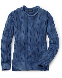 Polo Ralph Lauren - Boxy Cable Cotton Jumper - Lyst